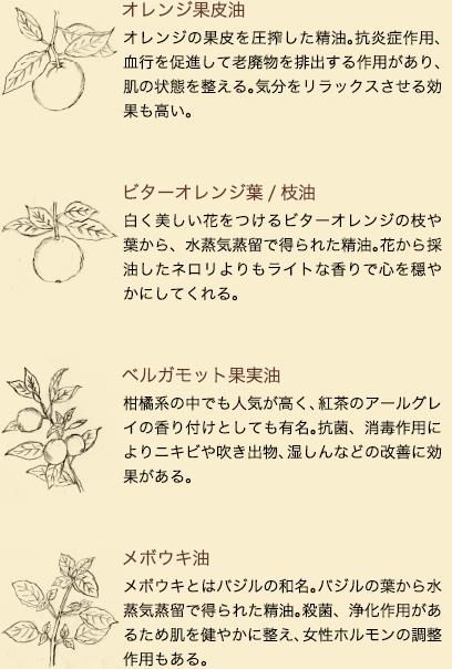 植物の効能(8種の精油)